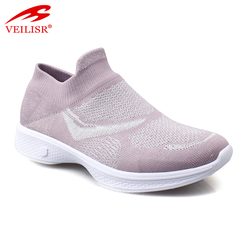 Zapatillas Hot sale Classical Latest design oem/odm knit fabric women fashion sneakers casual sport shoes