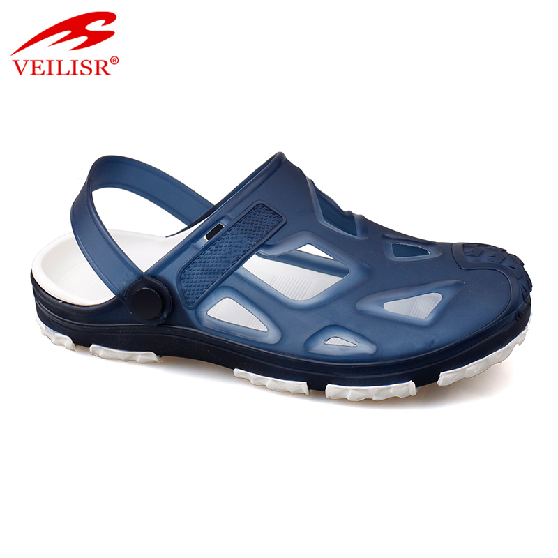 hot sell jelly plastic men transparent garden clogs