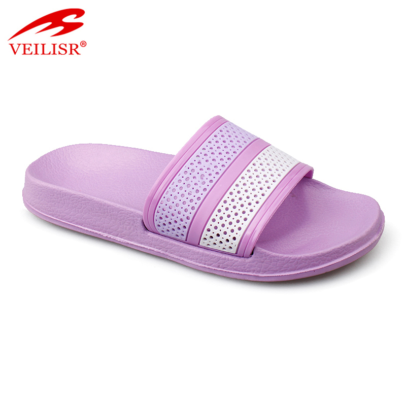 Outdoor summer beach PVC upper children slide sandals kids slippers