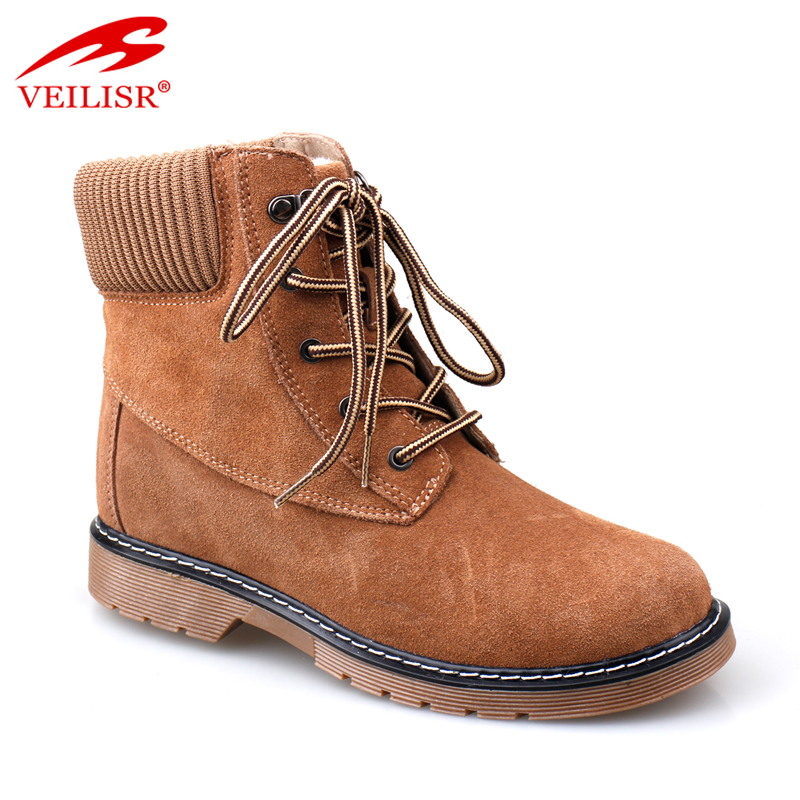 Wholesale suede leather high top casual shoes women winter boots