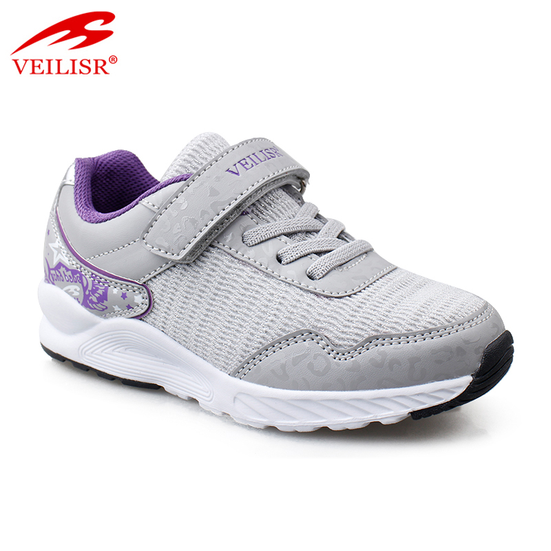 New Hot sale Classical Latest design Outdoor fashion PU mesh children school sneakers kids casual sport shoes