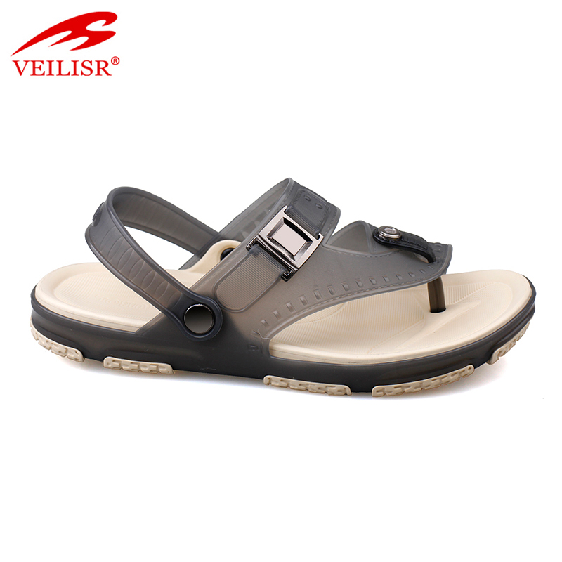 Outdoor summer beach jelly PVC plastic clogs men sandals