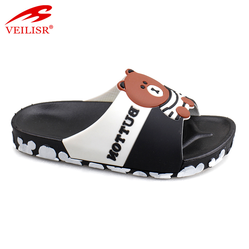 New design swimming pool PVC slide sandals kids beach slippers