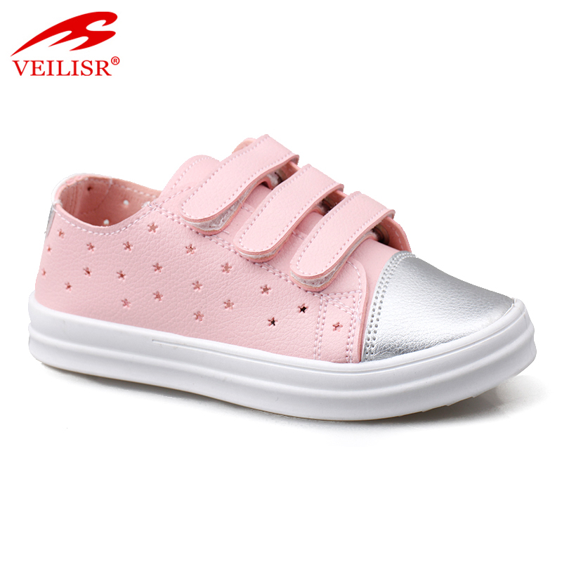 Zapatos PU upper PVC sole children footwear kids casual shoes