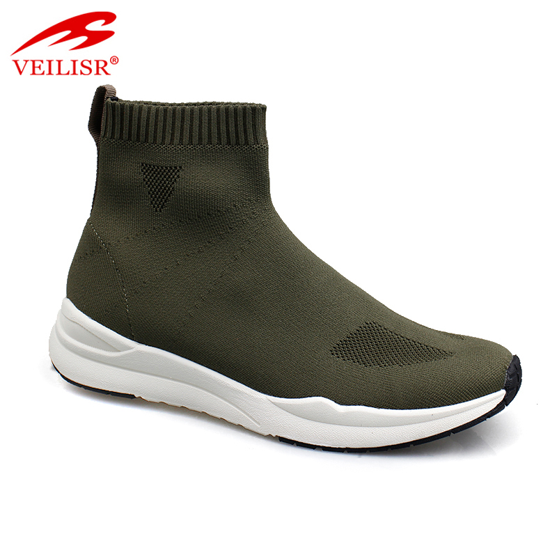 2020 Newest style China Factory Wholesale Low Price Most popular knit fabric fashion casual sport shoes men sock sneakers