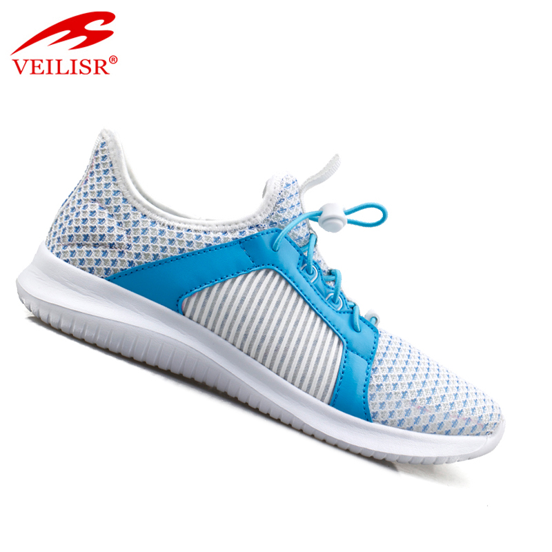 new knitted fabric breathable women sport shoes