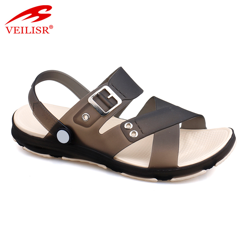 Sandalias hombre summer beach clear PVC Jelly shoes Men Sandals