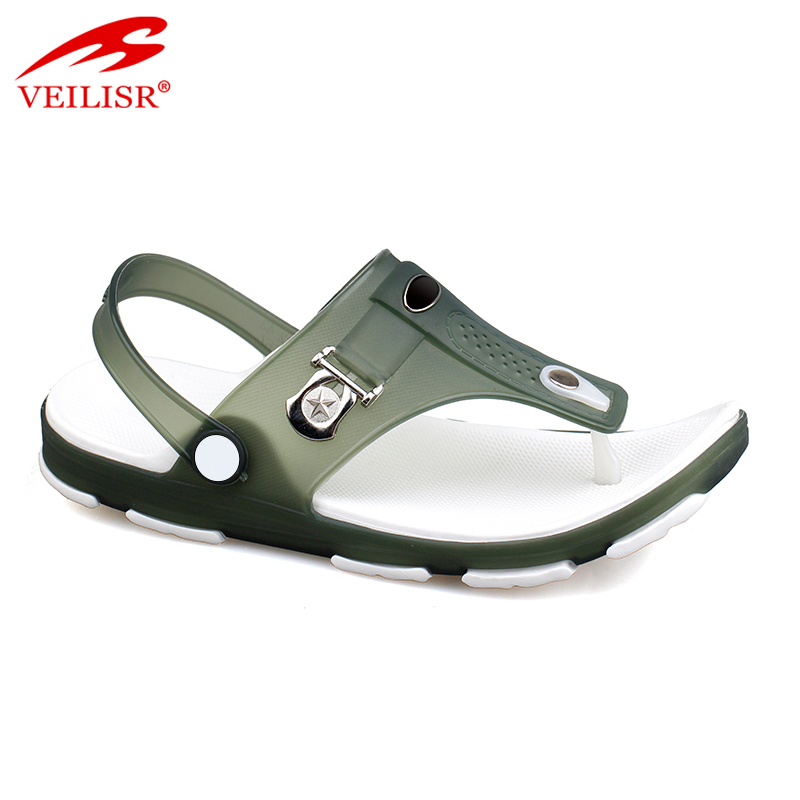 Outdoor summer beach clear PVC jelly sandalias men sandals