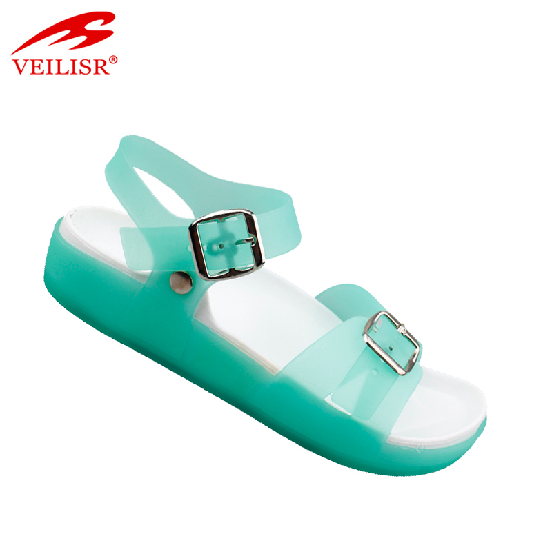 Sandalias mujer clear PVC footwear beach jelly shoes women sandals