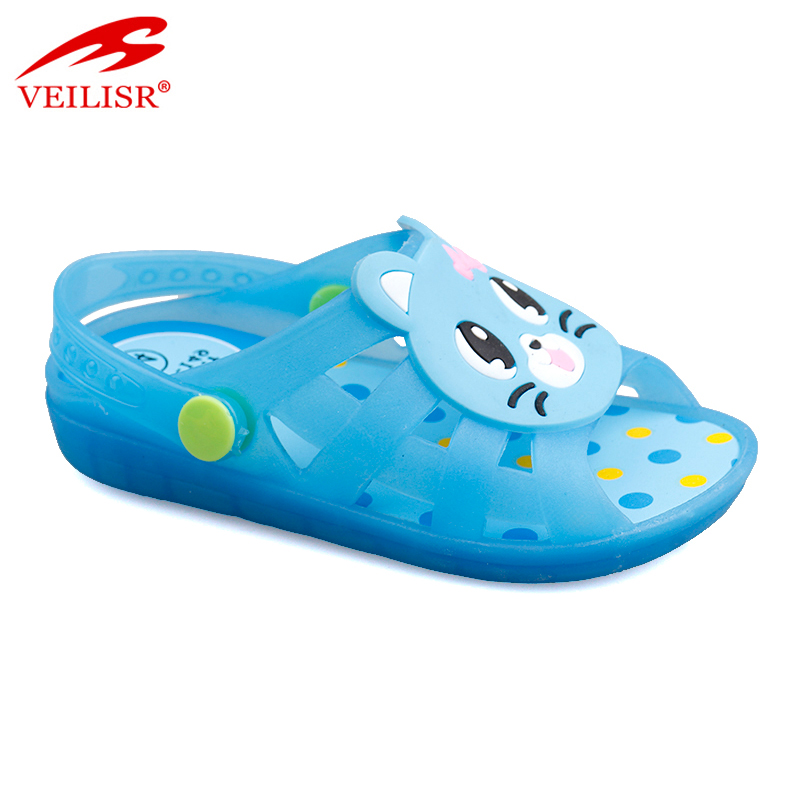 New models children beach jelly shoes sandals led light kids clogs