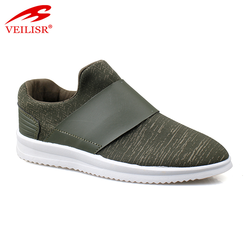 New fabric upper ladies slip on casual shoes fashion women sneakers