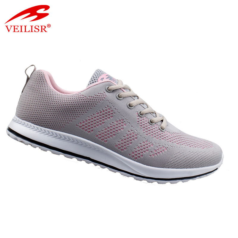 New design fashion knit fabric sneakers ladies sport shoes