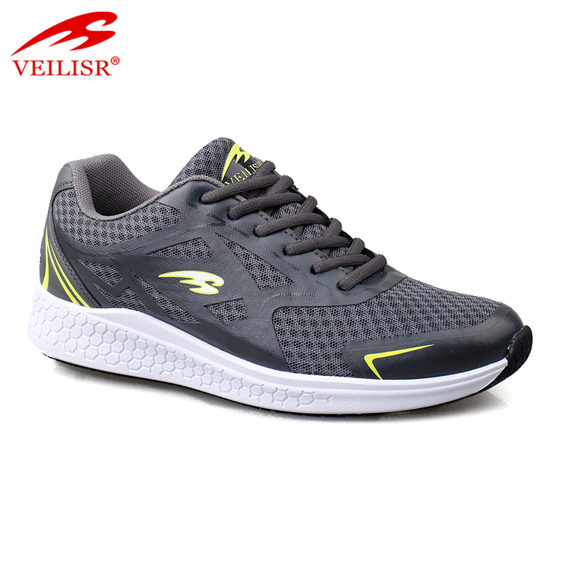 Most popular PU mesh fashion sneakers men running sport shoes
