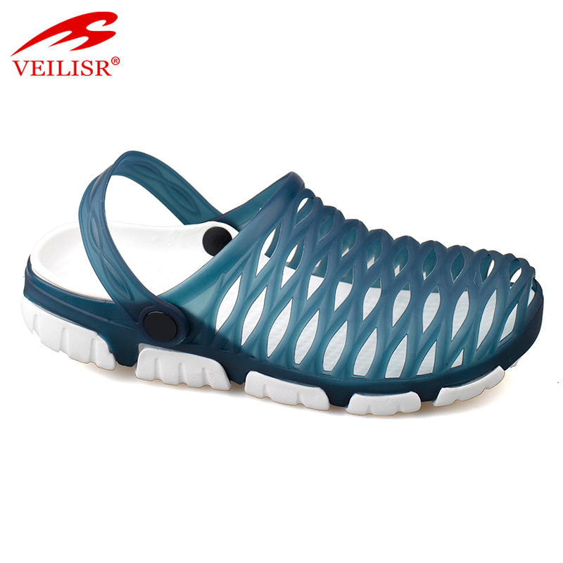 Outdoor summer beach clear jelly PVC sandals garden men clogs