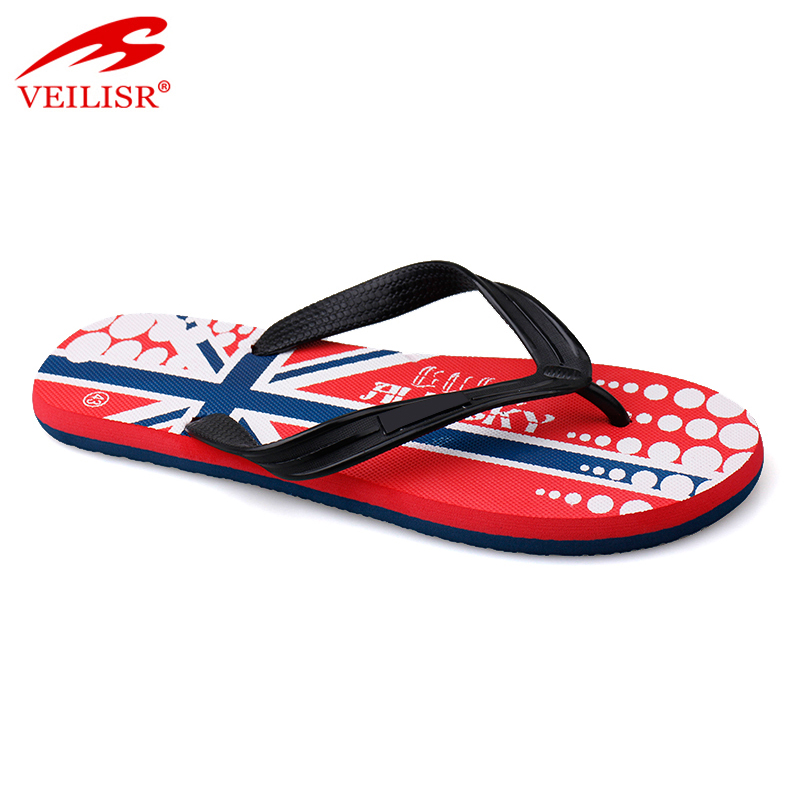 Outdoor summer PVC strap men slippers beach flip flops