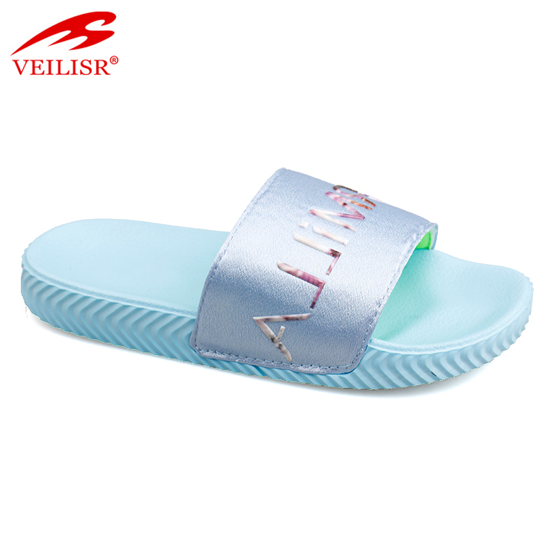 Most popular fancy children PU upper slide sandals kids EVA slippers