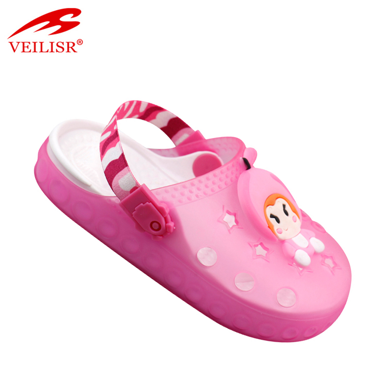 Most popular children beach clear PVC sandals jelly shoes kids clogs
