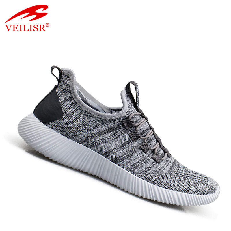 New popular knit fabric fashion sneakers women casual sport shoes