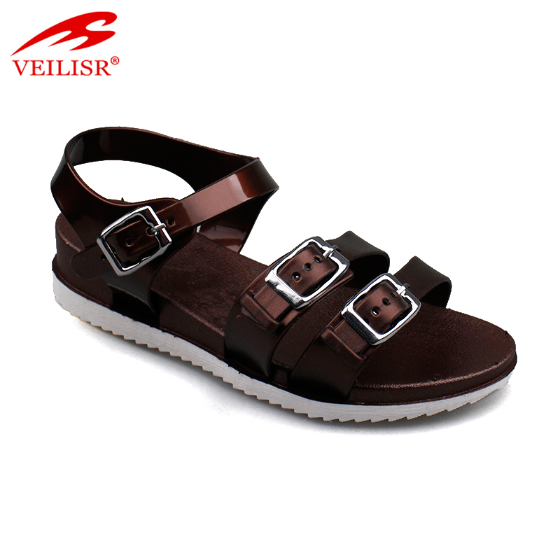 Outdoor summer fancy children PVC sandalias kids wedge sandals