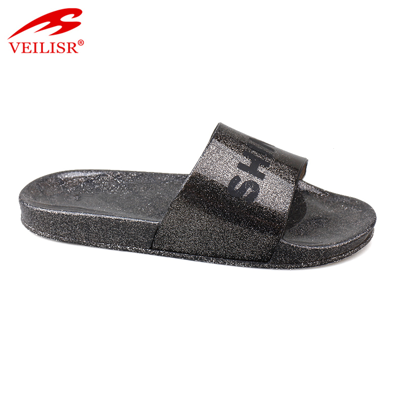 Chancletas summer hotel clear PVC Jelly Slide Sandals men Slippers