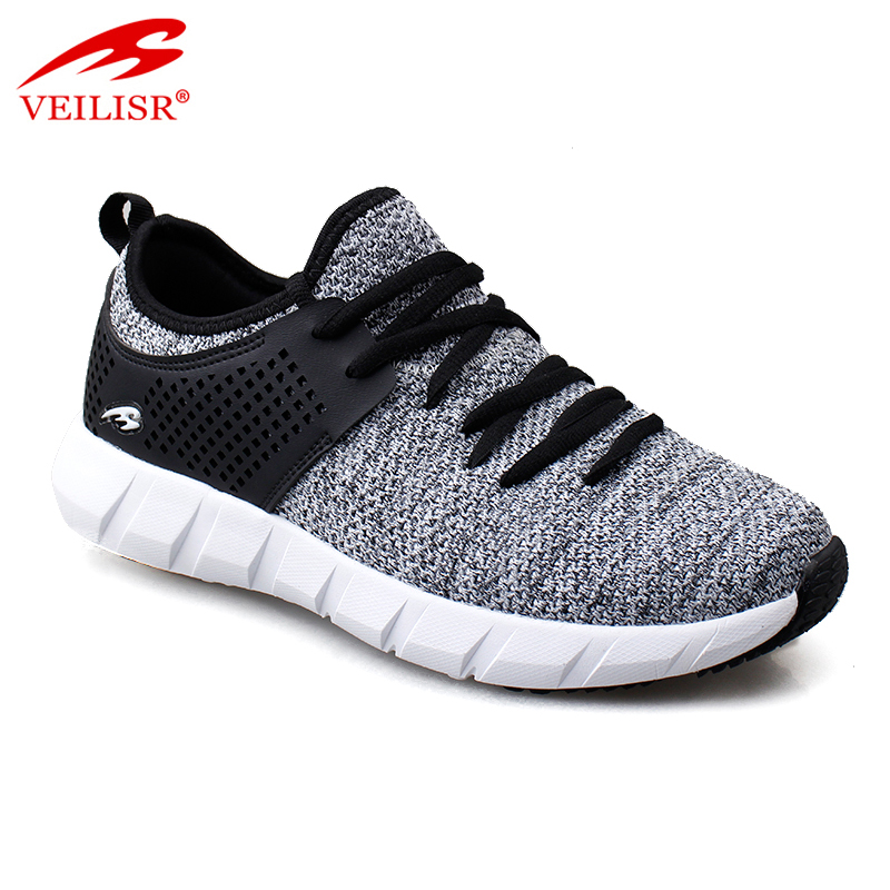 Most popular knit fabric casual sport shoes fashion men sneakers