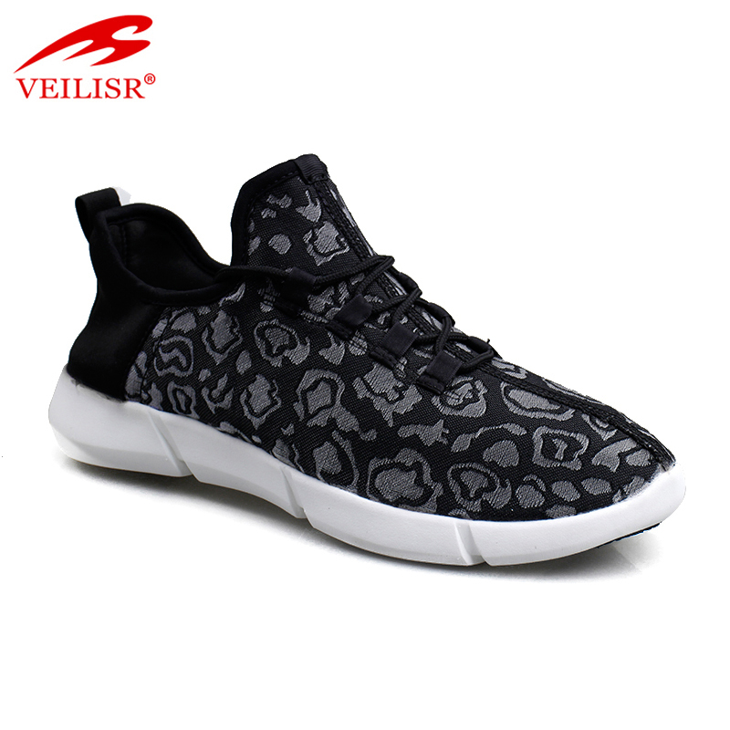 Zapatillas fashion men fabric sneakers flash LED light sport shoes