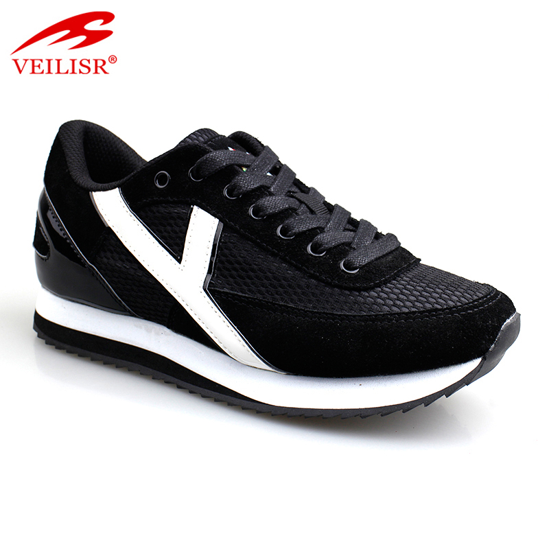 New design PU mesh upper ladies casual sport shoes women fashion sneakers