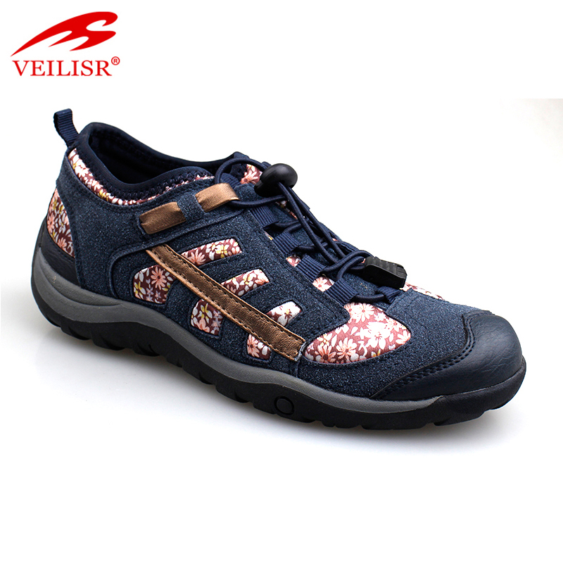 Most popular fashion suede fabric sneakers women sport hiking shoes