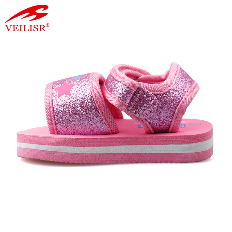 Most popular hook loop design thick sole footwear sport kids sandals