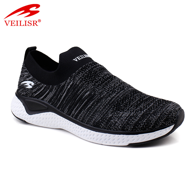 New design knit fabric upper sports casual shoes men sneakers