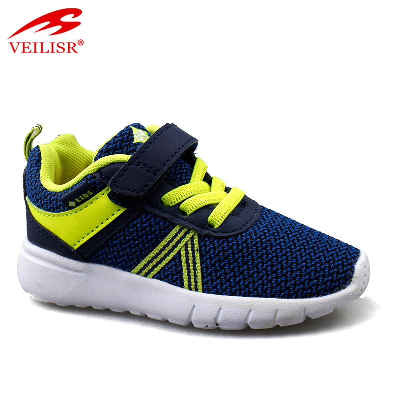 Zapatos Hot Lightweight Latest Typical knit fabric children school  sneakers Kids casual sport Shoes