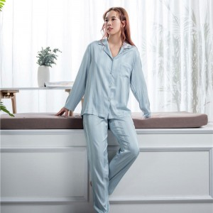 China OEM Silk Sleepwear Women - mulberry sleep wear set  – Wonderful Textile