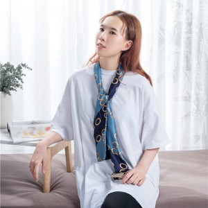 OEM manufacturer Polyester Print Scarf – Narrow polyester twill scarf  – Wonderful Textile
