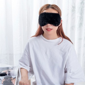 Wholesale Solid Color Eye Mask - Black color velvet eye mask  – Wonderful Textile