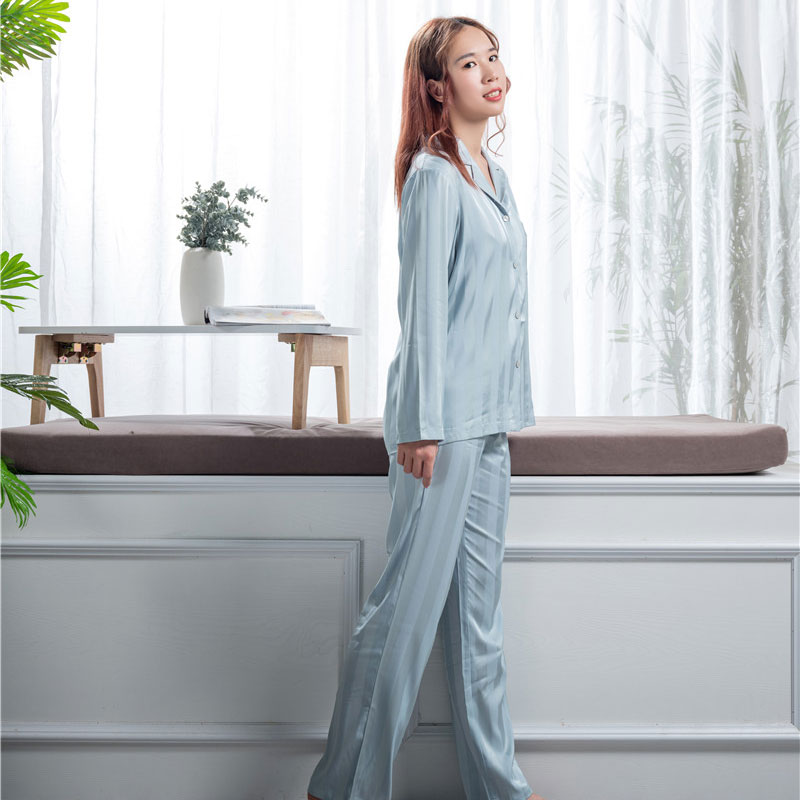 Super Lowest Price Silk Sleep Shirt - mulberry sleep wear set  – Wonderful Textile