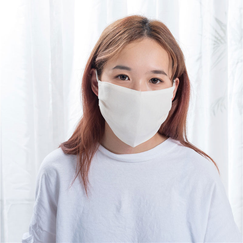 Reasonable price Print Logo Eye Cover - White Color Silk Face Mask  – Wonderful Textile