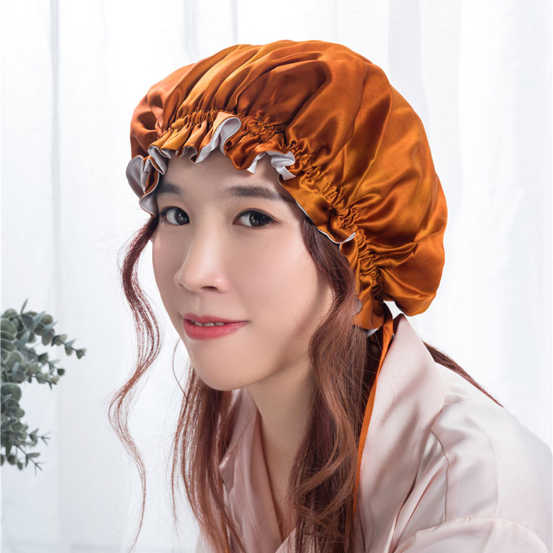 OEM/ODM Manufacturer Bonnets Custom Logo Silk - Silk night bonnet  – Wonderful Textile