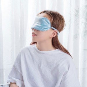 Print blue color silk eye mask