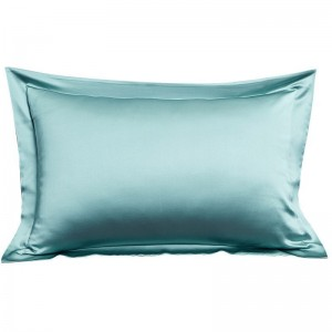 Poly satin pillow case blue color