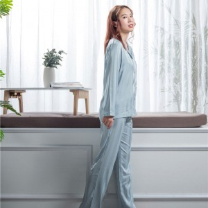 Good Wholesale Vendors Silk Pajama Set Women - Designer silk sleep wear  – Wonderful Textile