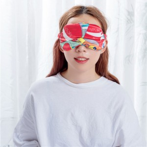 Fashion print design silk sleep mask