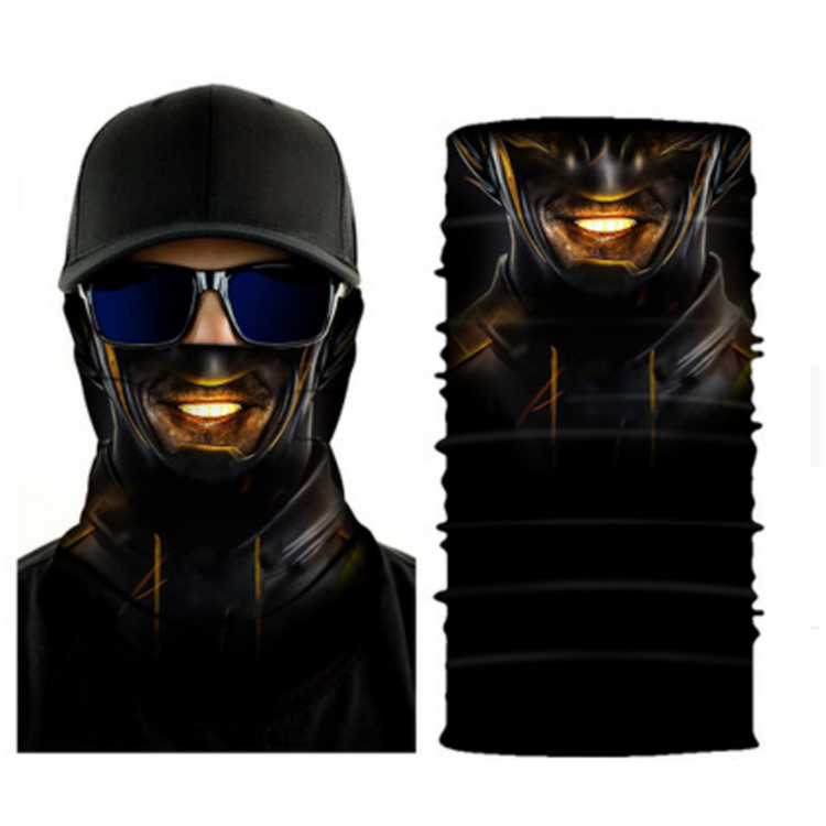 Hot-selling Bamboo Neck Tube - Digital Print Microfiber Skull Motorcycle Bandanas – Wonderful Textile