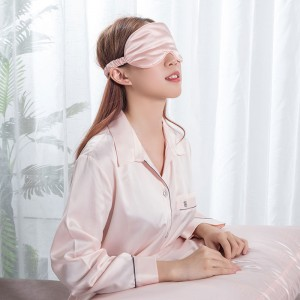 silk eye mask with embidory logo