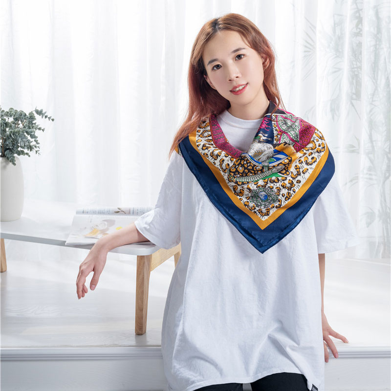 OEM Supply Silk Small Square Scarves - Imitated silk scarf shawl  – Wonderful Textile detail pictures