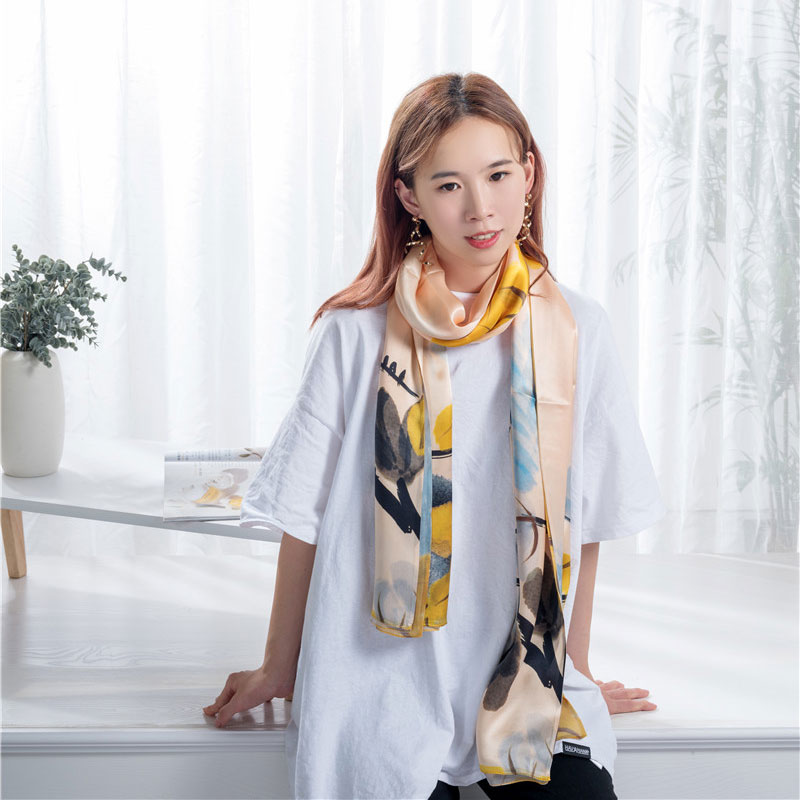 Chinese wholesale Print Silk Scarf - Unique designs silk scarf  – Wonderful Textile