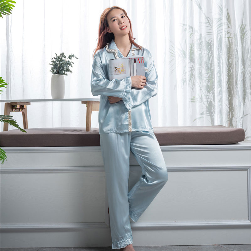 OEM/ODM Manufacturer Washable Silk Pajamas - Designer silk sleep wear  – Wonderful Textile