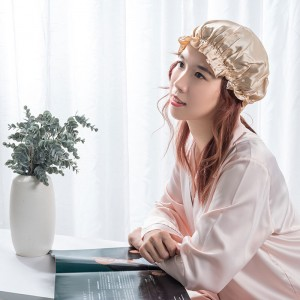 Bottom price Satin Hair Cap - Silk bonnet gold color  – Wonderful Textile