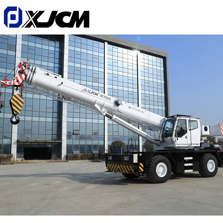 Chinese Crane supplier XJCM sale  55 Ton  rough terrain mobile cranes Featured Image