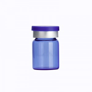 5ml Custom Blue Glass Vials