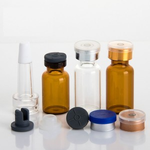 OEM Glass Bottles For Skincare Suppliers - Amber Small Glass Vials With Lids – Comi